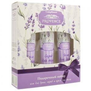 Комплимент прованс набор подарочный для женщин №1230 (Compliment Provence) :гель для душа, 75 мл,скраб для тела, 75 мл,крем для тела, 75 мл