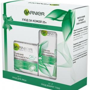 """Garnier Подарочный набор Антивозрастной уход Сияние молодости 25+"""" Крем для лица дневной 50 мл + Крем для кожи вокруг глаз 15 мл."""
