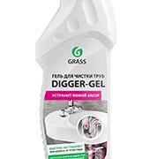 Дигер гель высокоэффективное средство для устранения пробок и засоров в труднодоступных местах канализационных стоков и труб. Убивает бактерии и устраняет неприятные запахи.