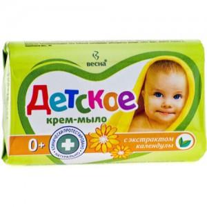 Детское мыло крем мыло твердое (Детское) 90гр