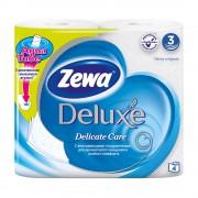 Бумага Туалетная Зева Делюкс (Zewa Deluxe) Подарите себе удовольствие от ежедневного ухода за собой. Со смываемой втулкой Aqua Tube!