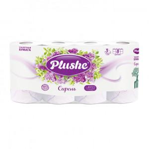 Трехслойная бумага Плюше Plushe Deluxe Light 8 рулонов*15 м, 3 слоя