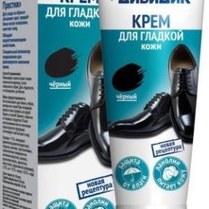 Дивидик крем для обуви Престиж в тубе черный 75 мл