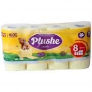 Plushe бумага 8 рулонов по 18 м 2 слоя (Плюше)