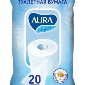Аура влажная туалетная бумага 20 шт (Aura)