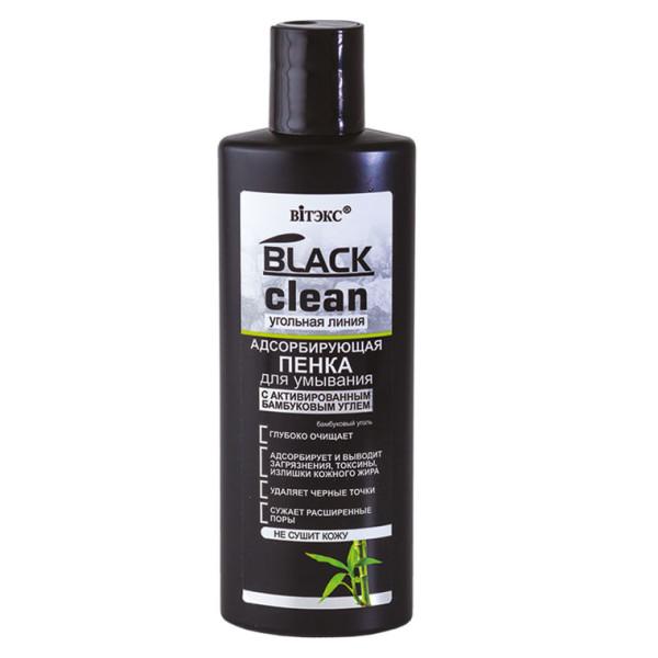 Black clean пенка для умывания адсорбирующая 200 мл (Блэк Клин, Витэк)