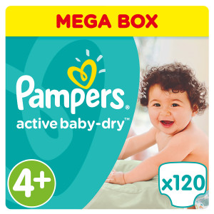 Подгузники Памперс active baby 9-16 кг 120 шт (Pampers)