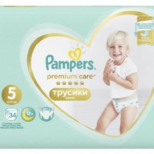 Трусики Pampers Premium care 12-17кг, 34шт (Памперс Премиум Кеа)