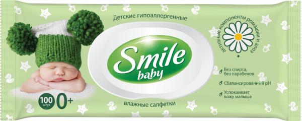 Салфетки Смайл 100 шт с клап. (Smile)