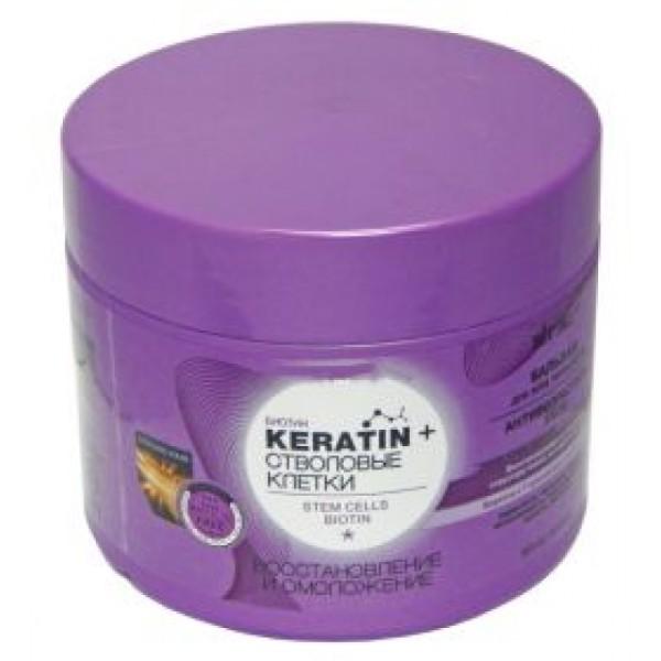 Белита бальзам стволовые клетки и кератин  Восстановление и омоложение д/всех типов волос 300 мл (Belita Vitex)