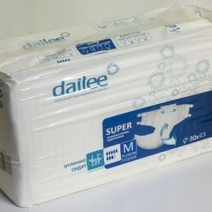 Dailee Super medium Подгузники для взрослых (M) 30 шт (Дейли) Россия
