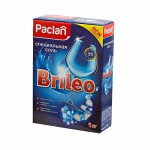 Соль Паклан Брилео для посудомоченых машин, 1 кг (Paclan Brileo)