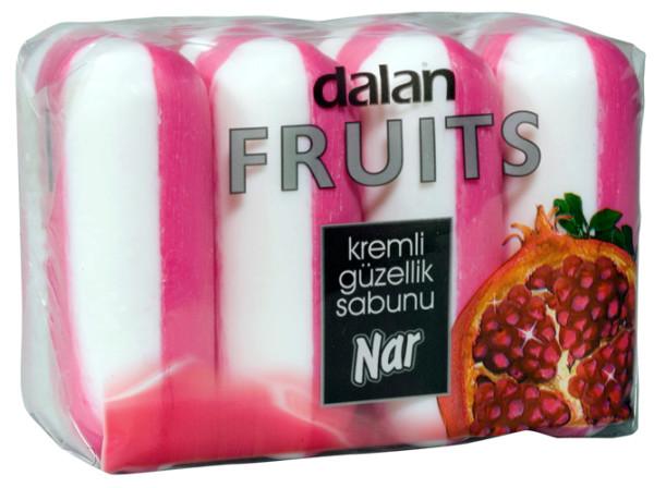 Dalan fruits cream туалетное мыло Гранат 100 гр* 4 шт (Далан) Турция