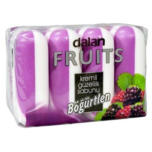 Туалетное мыло Далан Ежевика 100 гр* 4 шт (Dalan fruits) Турция.