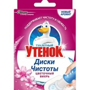 Туалетный утенок Диски чистоты очиститель унитаза Цветочный вихрь, 38 г, 6 шт