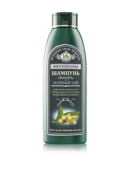 Шампунь Ирис все типы волос Имбирь и Зелёный чай (Iris) 500 мл