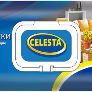 Салфетки влажные Селеста с клапаном, Celesta 80 шт