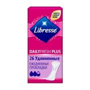 Либресс удлиненные прокладки ежедневные Libresse Dailyfresh Plus, 26 шт