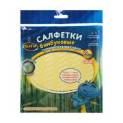 """Салфетки бамбуковые Селеста супервпитывающие, 30 х 34 см, 3 шт """"Celesta"""""""