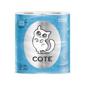 Коте полотенце бумажное (Cote) 2 шт. 2 слоя
