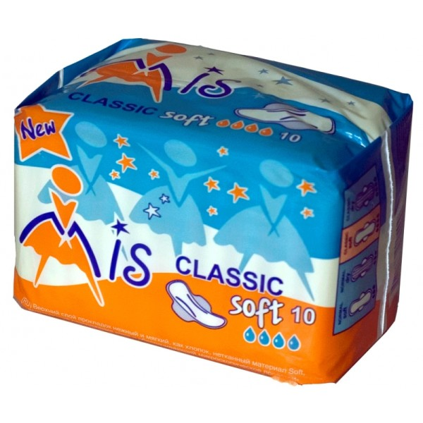 Прокладки Мис Классик софт «Mis Classic Soft» (4 капли)10 шт