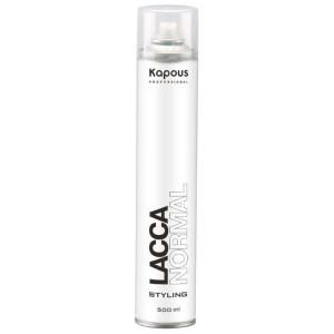 Kapous Professional Лак Нормал аэрозольный для волос нормальной фиксации «Капус Lacca Normal», 500 мл