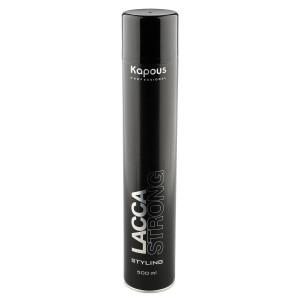 Лак для волос Kapous сильной фиксации аэрозольный «Lacca Strong», 500 мл (Капус)