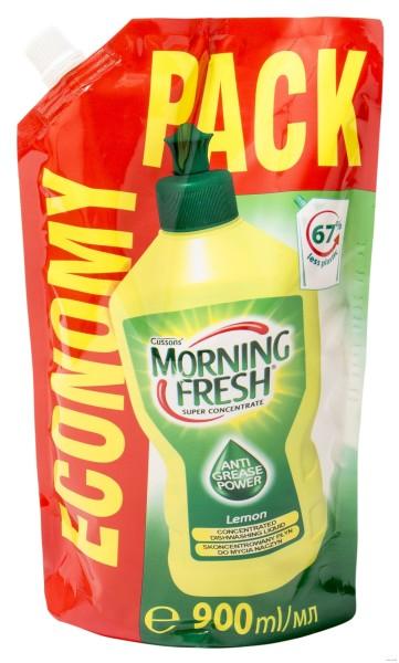 Средство Монинг фреш Лимон для мытья посуды дой-пак Morning Fresh, 900 мл Польша