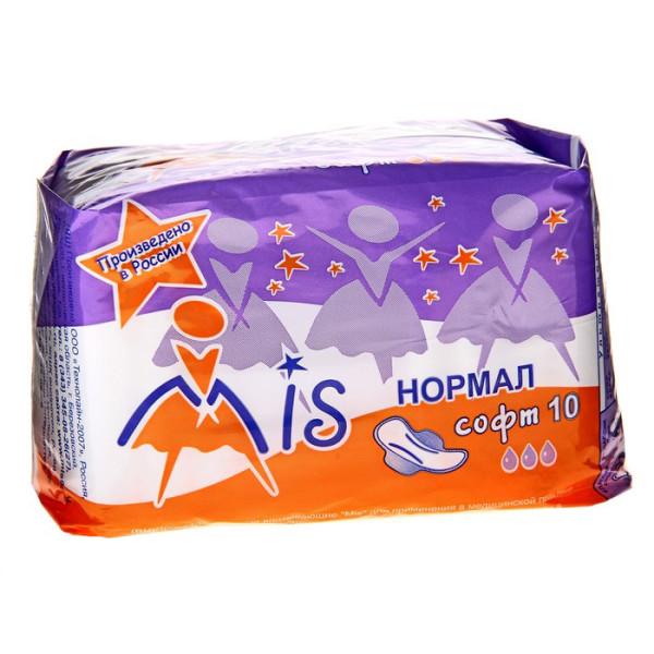 Прокладки нормал софт Мис женские (3капли) Mis, 10 шт