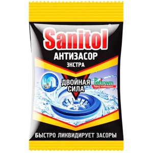 Средство для чистки труб Санитол (Sanitol Антизасор Экстра) 90 гр