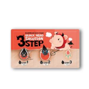Трехшаговый набор Elizavecca Black Head Solution 3 Step для очищения кожи носа