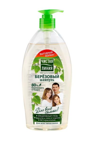 Чистая Линия шампунь Березовый для всех типов волос, 750 мл