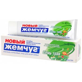Паста зубная Новый Жемчуг «Семь трав», 100 мл