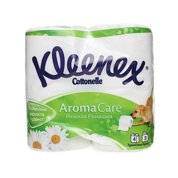 Туалетная бумага Kleenex Нежная ромашка (Клинекс) 3слоя 4рулона