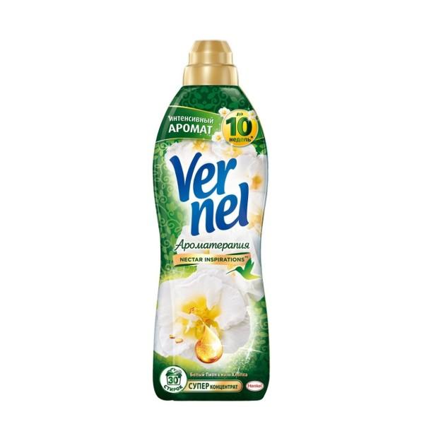 Vernel Кондиционер для белья Ароматерапия «Вернель Пион и Хлопок», 910 мл