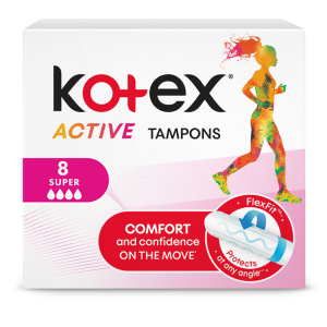 Тампоны Котекс Эктив супер (Kotex Active Super) 8 шт