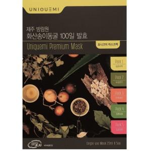 Набор масок UNIQUEMI Premium Mask из 5 разных масок (питание, увлажнение, сужение пор, лифтинг, отбеливание)