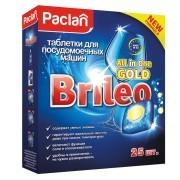 Таблетки Паклан Gold для посудомоечных машин Paclan Brileo All in One 25 шт