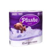 Плюше классик бумага туалетная Plushe Classic 2-слойная белая 4 шт