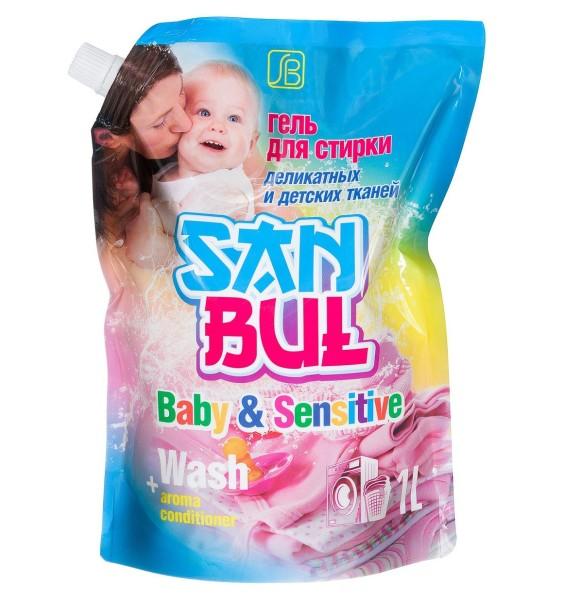 Гель Sanbul для стирки деликатных и детских тканей Санбул, 1000 мл