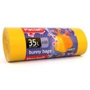 """Паклан мешки для мусора Paclan """"BUNNY BAGS с завязками Aroma"""", 35 л, 20 шт"""