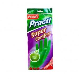 """Перчатки Paclan резиновые """"Practi Super Comfort"""", Паклан размер S"""