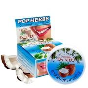 Pop herbs зубная паста с кокосом Coconut Toothpaste, (в круглой упаков) 30г