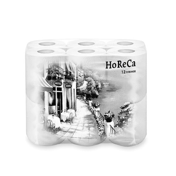 Плюше HoReCa туалетная бумага 2слоя, 13,68 м, Plushe белая 12 рулонов
