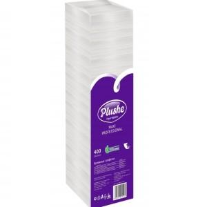 Плюше БигПак салфетки бумажные Plushe Classic Big Pack 24x24 см 1-слойные Белые, 400 шт