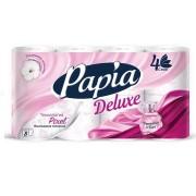 Папиа Делюкс туалетная бумага Papia Deluxe Dolce Vita, аромат парфюма, четырёхслойная, 8 шт