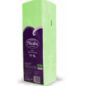Плюше однослойные салфетки бумажные Plushe Classic Big Pack 24x24 Салатовые 400 шт