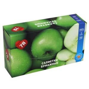 Салфетки косметические 7Я Яблоко двухслойные 100 шт. Салфетки косметические 7Я Яблоко двухслойные 100 шт.