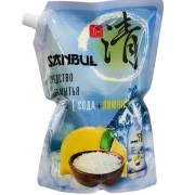 Средство Санбул для посуды сода+лимон Sanbul дой-пак 1200 мл