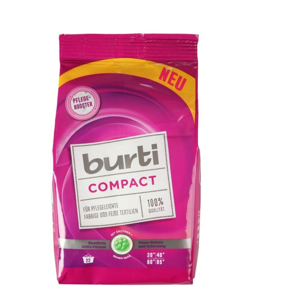 Burti порошок для стирки цветного и тонкого белья Compact Бурти 1,1 кг